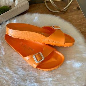 Birkenstock Madrid essentials bright orange
